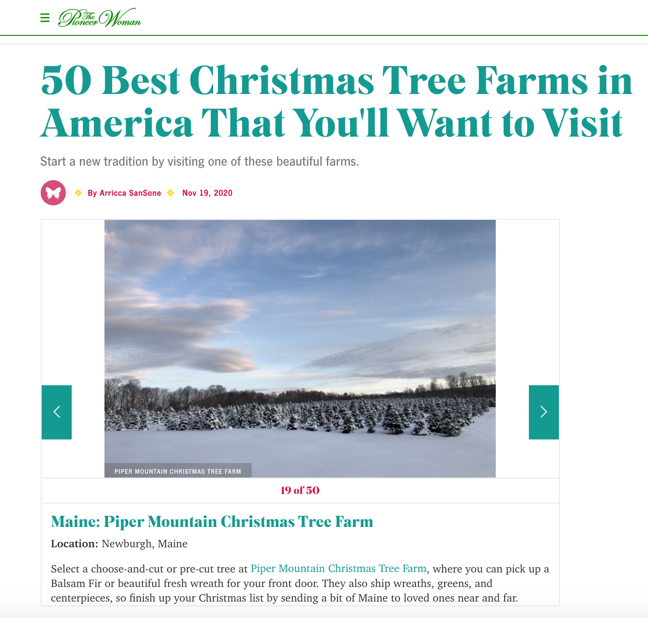 50 Best Christmas Tree Farms in America